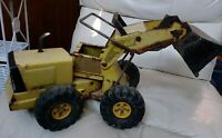 VINTAGE TONKA TURBO DiESEL MIGHTY FRONT END LOADER . PRESSED STEEL TRACTOR 🚧