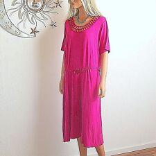 Cavita stretchiges Sommerkleid Shirtkleid Kleid gehäkelter Ausschnitt Gr.50 Neuஜ