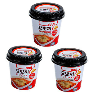 Yopokki Instant Cheese Tteokbokki Rice Cake Cheese Sauce Korean Food 3 PACK