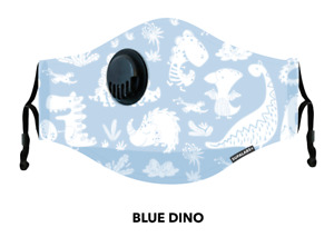 SUPALABS Hero Face Mask Covering 5 layers of protection + valve - Dinos Petite