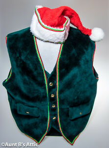 Vest & Hat Mascot Clothing Holiday Faux Fur Animal Suit Accessory