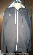 UA Under Armour Grey Hoodie Cold Storm Gear Zippered Coat Jacket AF Logo XL NWT