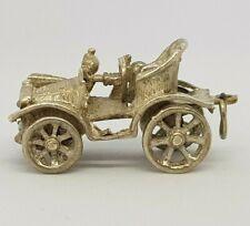 Vintage Sterling Silver Charm Pendant - Classic Car