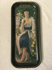 Coca Cola Long Tray Flapper Girl Featuring 1921 Advertising 1973 w/hanger