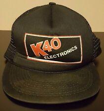 Vintage 80s K40 Electronics Snapback Cap Hat Radar Detector Laser Jamming GPS