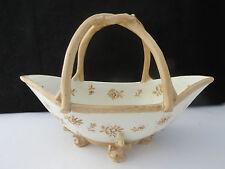 Rare Antique Triebner Ains Eckert Rudolstadt Volkstedt Porcelain Flower Basket