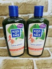 Lot of 2 Kiss My Face Shower Gel Active Athletic Sport 16 oz