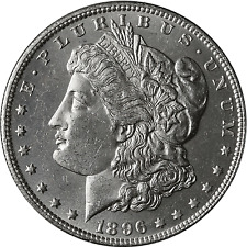 1896-P Morgan dólar de plata BU-uncirculated brillante