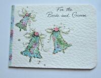 Vintage Hallmark Card For the Bride & Groom  Mid Century Wedding Money Hold Card