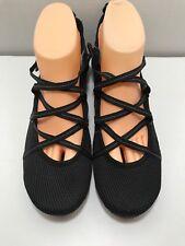 Clarks Privo Black Nylon Mesh Criss-Cross Flats Size 9.5 Shoes Loafers