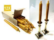 """CANDLES 8"""" BUTTERSCOTCH YELLOW - DRIPLESS UNSCENTED DINNER TAPER -12x BULK BOX"""