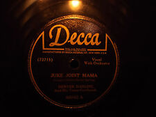 Denver Darling Juke Joint Mama Old Collectible Vintage 78 RPM Record Decca Label