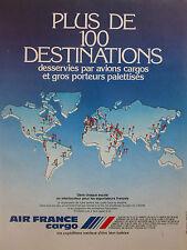5/1985 PUB AIR FRANCE CARGO FRET AERIEN FRACHT ORIGINAL FRENCH AD
