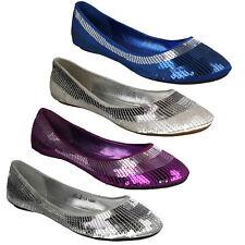 SPOT ON f8r551 Donna scivolare SU Flats casual strass Décolleté scarpe ballerine