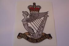 """2 X ROYAL IRISH RANGERS   HM ARMED FORCES  STICKERS  4"""" BRITISH ARMY"""