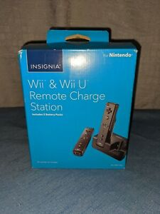 Dual Charging Charger Dock Station 2 Battery For Wii and Wii U Remote Controller