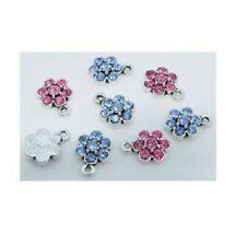 4 mixedRhinestone flower charm pendants size 15x 10mm