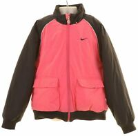 NIKE Girls Padded Jacket 10-11 Years Pink Polyester  JA13