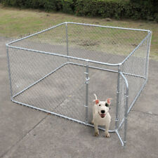 48'' H Dog Kennel Outdoor Heavy Duty Pet Cage Steel Wire Pen Run House Fence