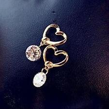 1Pair Love Zircon Hypoallergenic Earrings Bow Knot Earrings Cute Girl Gifts