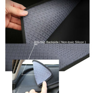 Anti-Slip Black Dash mat Covers for 2018 - 2019 Hyundai IONIQ RH Drive