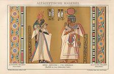 B0028 Dipinto egiziano - Stampa Antica del 1901 - Antique print