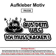 AUS DEM WEG Autoaufkleber Aufkleber Fun Spaß Sticker Tuning Lustige Sprüche