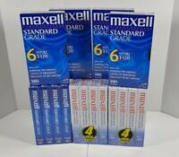Maxell T-120 VHS Tapes Standard Grade Lot Of 16