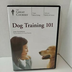Dog Training 101 (4 disc DVD set, 2018) Great Courses Teaching Company