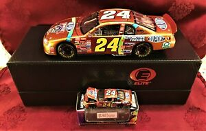 Jeff Gordon #24 Dupont Chromalusion 1998 RCCA 1/24 Elite 1/64 HO Car Diecast SET