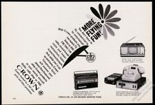 1968 Crown Constellation radio micro TV set phone answering machine photo ad