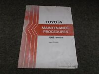 1985 Toyota Land Cruiser 2F & 3B Engines Maintenance Shop Service Repair Manual