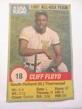 USA TODAY 1991 ROOKIE CLIFF FLOYD CARD RARE THORNWOOD HIGH SCHOOL RARE