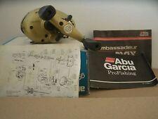 Abu Garcia Ambassadeur Gold Max 2 speed baitcasting reel 6.3:1/3.8:1; 3 bb
