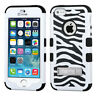 Hybrid Kickstand Armor Hard & Soft Rubber Dual Layer Case Cover for iPhone SE 5S