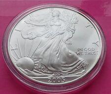 2005 SILVER EAGLE  $1 ONE DOLLAR COIN- LOVELY COIN  ENCAPSULATED