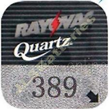10 Rayovac 389 Quartz Watch Batteries SR1130W AG10 SR43