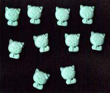 Vert nouveauté kitty en forme de boutons x 10-baby, craft, chaton