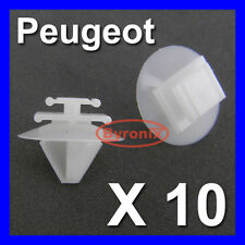 PEUGEOT 106 206 207 306 307 TRIM CLIPS EXTERIOR DOOR SIDE MOULDING BUMPSTRIP x10