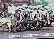 1913 Horse Drawn Rose Festival Float Portland Or Pc