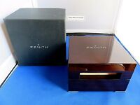 BEAUTIFUL WOOD ZENITH WATCH BOX INNER & OUTER 100% ORIGINAL OEM FOR STORAGE