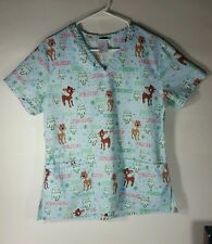 Rudolph The Red-Nosed Reindeer Holiday Scrubs Top Small