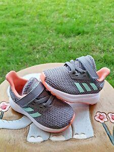 Adidas Gray/Mango BRAND NEW Toddler 4C