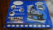 Lake Placid L 00004000 P103B Metro Soft Boys Adjustable Ice Skates Black/Blue/Grey, Small