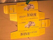 REPLIQUE  BOITE CITROEN 2CV 1961 JUNIOR DINKY TOYS
