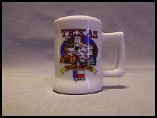 Shot Glass Texas Map Flag Lone Star State Alamo Cactus Ceramic Mini Mug New 210