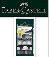 Faber Castell Tuschestift PITT artist pen B brush shades of grey 6er 167104