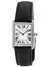 New Cartier Tank Solo Large Size Leather Strap Women's Watch WSTA0028