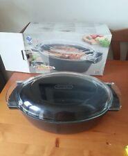Teflon cast iron Pyrex glass lid 5.3 litre non stick casserole dish