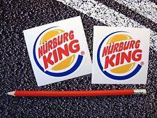 Funny nurburgring king stickers vw modifié abaissé ford renault alfa romeo bmw